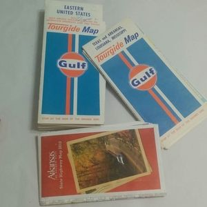 Other - Vintage Gulf Road Maps 1972 Edition  Decorating